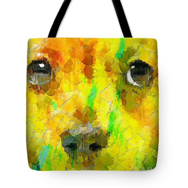 Noise And Eyes In The Colors Tote Bag