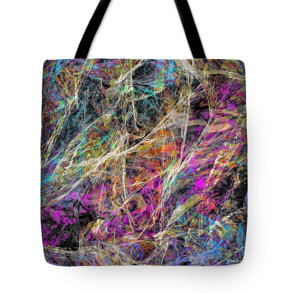 Tote Bag featuring the digital art Noise No.3 by Dedric Artlove W