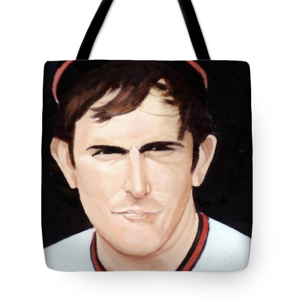 Nolan Ryan With The Angels Tote Bag