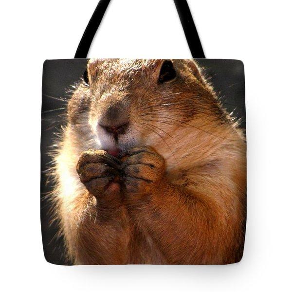 Snacking Prairie Dog Tote Bag