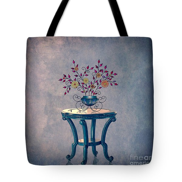 Tote Bag featuring the digital art Non-biological Botanical 7 by Megan Dirsa-DuBois