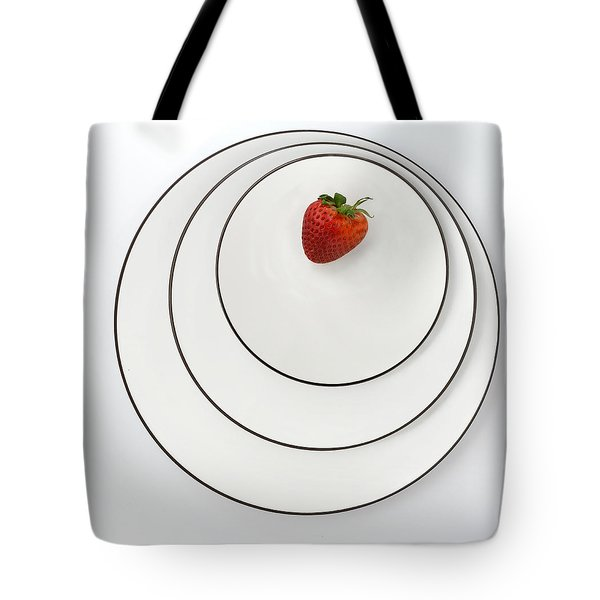 Nonconcentric Strawberry No. 2 Tote Bag by Joe Bonita
