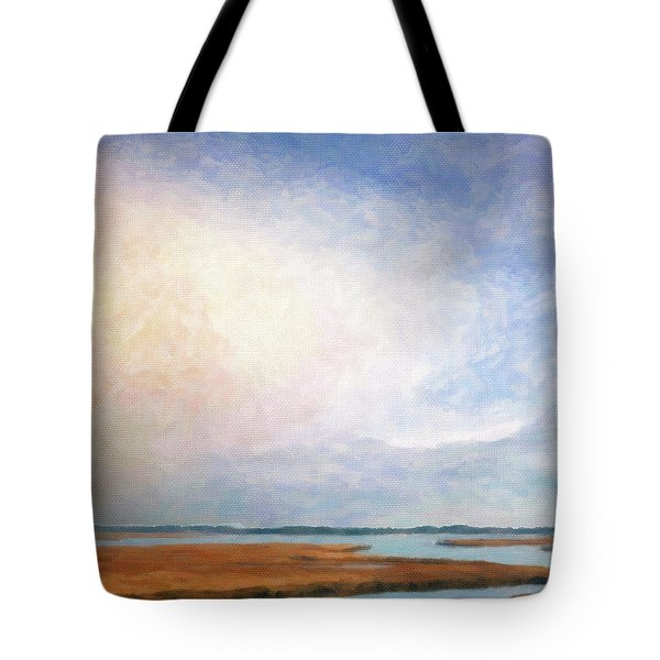 Nonesuch River Marsh - Winter Tote Bag by Ann Tracy