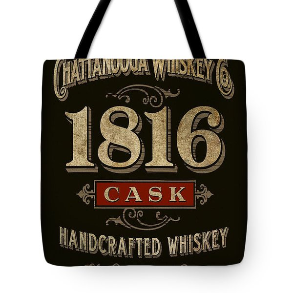 Tote Bag featuring the digital art Nooga Whiskey by Greg Sharpe