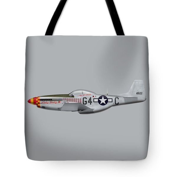 Nooky Booky I V - P-51 D Mustang Tote Bag by Ed Jackson