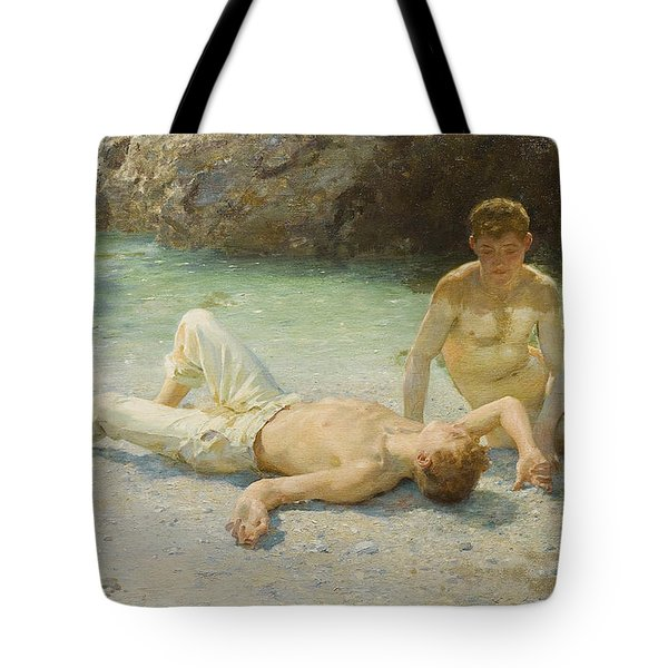 Noonday Heat Tote Bag by Henry Scott Tuke