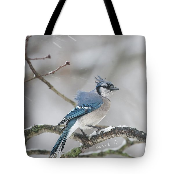 Nor' Easter Blue Jay Tote Bag