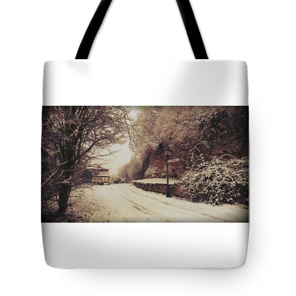 #nordhausen #snow #somedaysago #trees Tote Bag by Mandy Tabatt