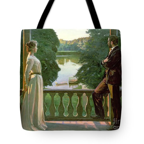 Nordic Summer Evening Tote Bag