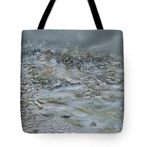 Tote Bag featuring the painting Nor'easter by Judith Rhue