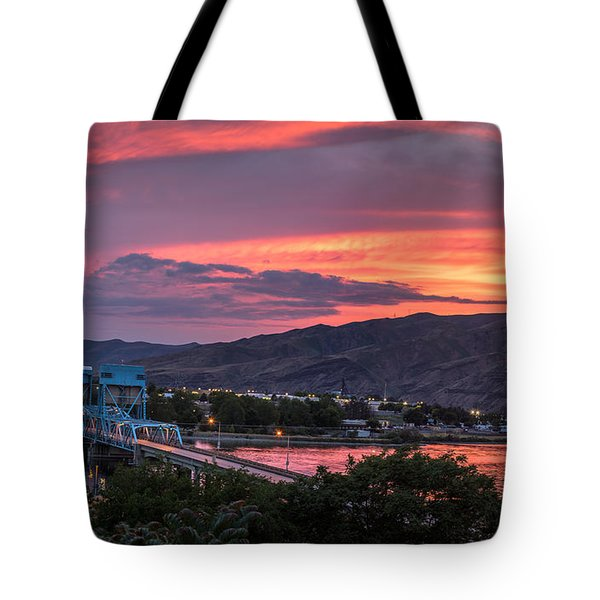 Normal Hill Sunset Tote Bag by Brad Stinson
