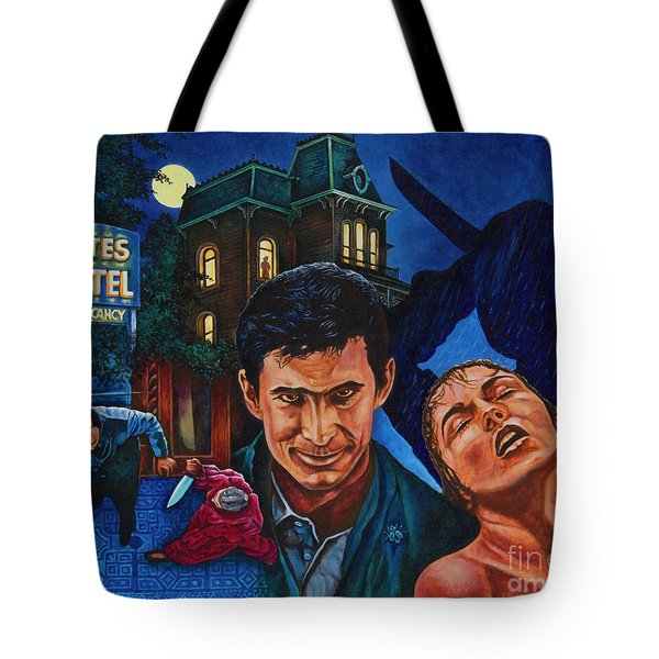 Tote Bag featuring the painting Norman by Michael Frank