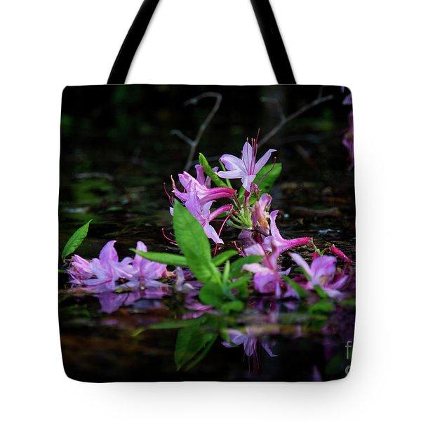 Norris Lake Floral Tote Bag by Douglas Stucky