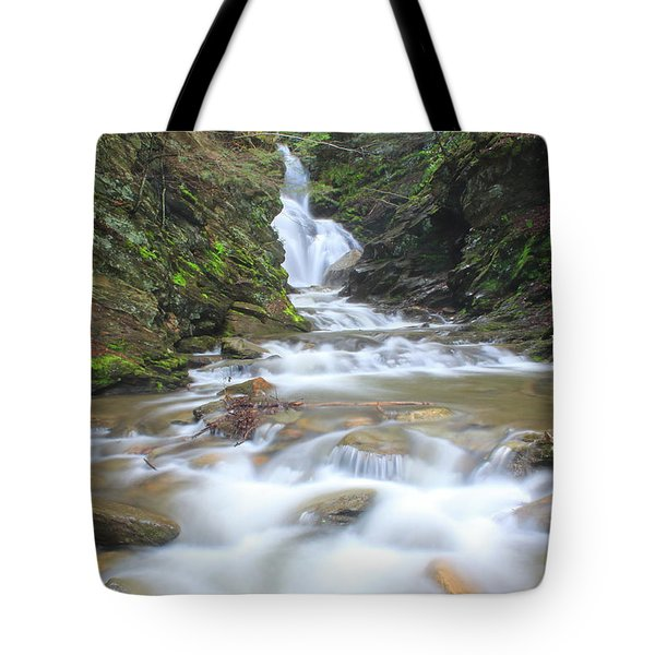 North Adams Cascade  Tote Bag by John Burk