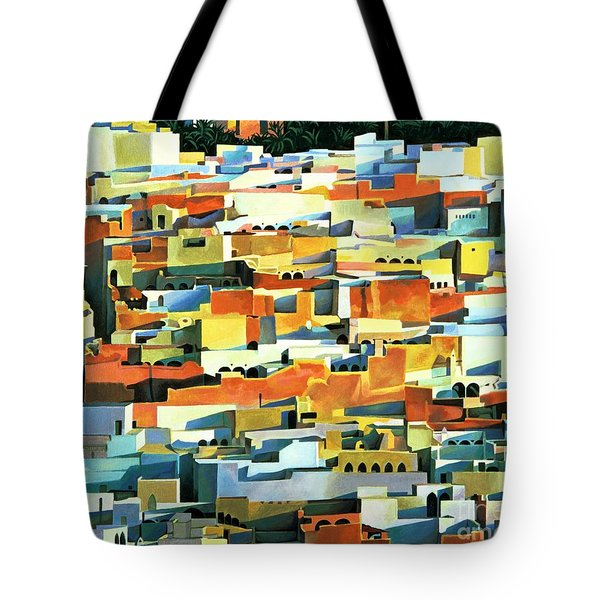 North African Townscape Tote Bag by Robert Tyndall