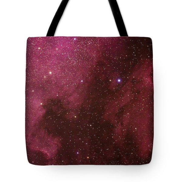 North American And Pelican Nebulas Tote Bag