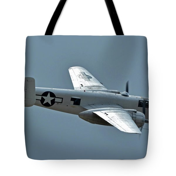 North American B-25j Mitchell N3675g Photo Fanny Chino California April 30 2016 Tote Bag by Brian Lockett