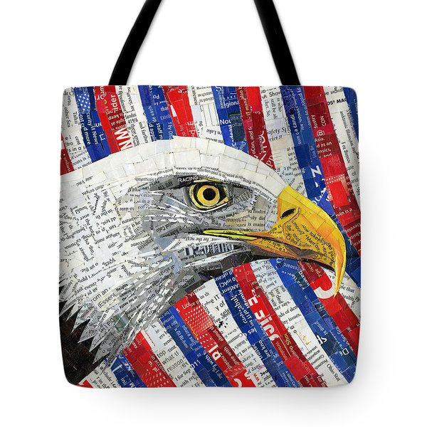 North American Bald Eagle Tote Bag by Shawna Rowe