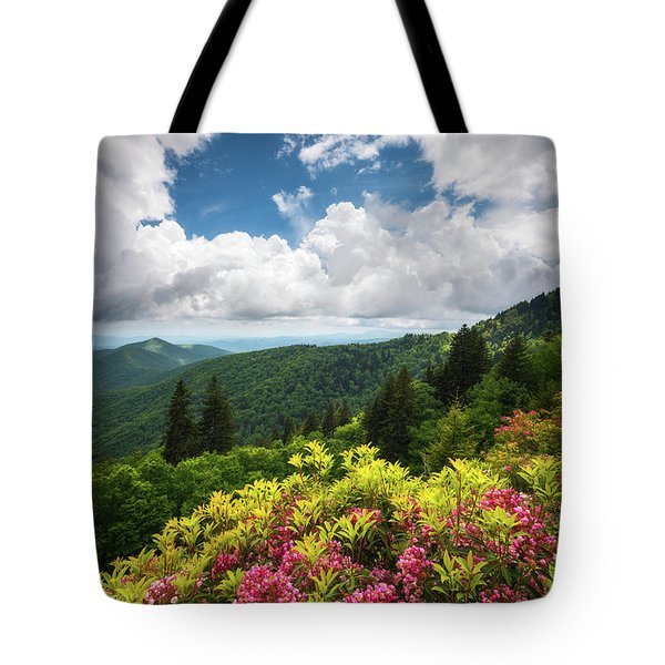 North Carolina Appalachian Mountains Spring Flowers Scenic Landscape Tote Bag
