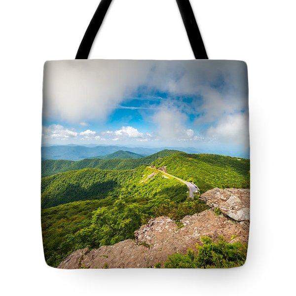 North Carolina Blue Ridge Parkway Asheville Nc Landscape Tote Bag