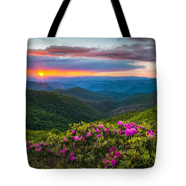 North Carolina Blue Ridge Parkway Landscape Craggy Gardens Nc Tote Bag