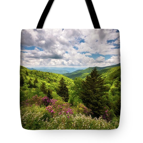 North Carolina Blue Ridge Parkway Scenic Landscape Nc Appalachian Mountains Tote Bag
