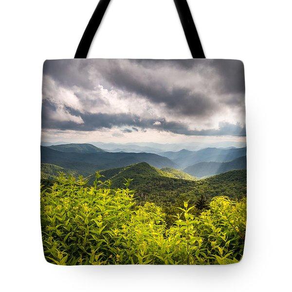 North Carolina Blue Ridge Parkway Scenic Landscape Photography Asheville Nc Tote Bag