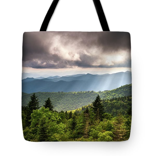 North Carolina Blue Ridge Parkway Scenic Mountain Landscape Tote Bag