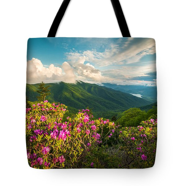 North Carolina Blue Ridge Parkway Spring Mountains Scenic Landscape Tote Bag