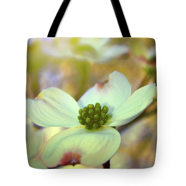 North Carolina Dogwood State Flower Tote Bag by Gray  Artus