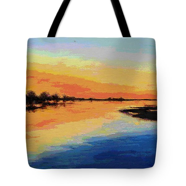 North Carolina Emerald Isle Sunrise Original Digital Art Tote Bag
