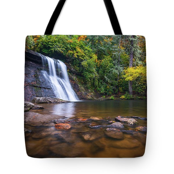 North Carolina Nature Landscape Silver Run Falls Waterfall Photography Tote Bag