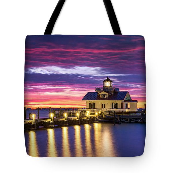 North Carolina Outer Banks Lighthouse Manteo Obx Nc Tote Bag