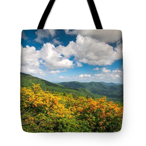 North Carolina Roan Mountain Flame Azalea Flowers Appalachian Trail Tote Bag