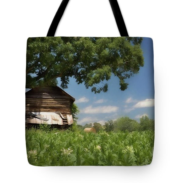 Tote Bag featuring the photograph North Carolina Tobacco by Benanne Stiens