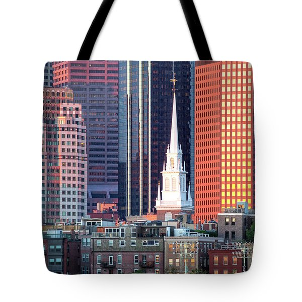 North Church Steeple Tote Bag by Susan Cole Kelly