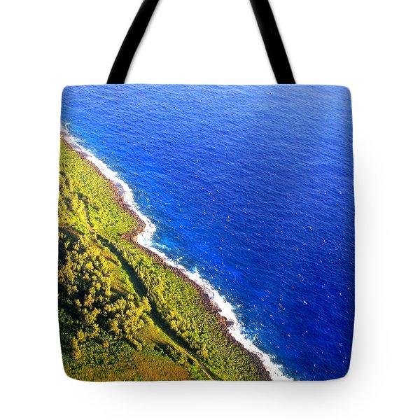 North Coast Of Tinian At Sunrise Tote Bag