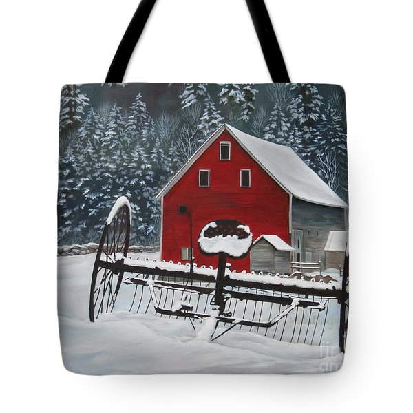 North Country Winter Tote Bag