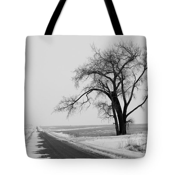 North Dakota Scenic Highway Tote Bag by Bob Mintie