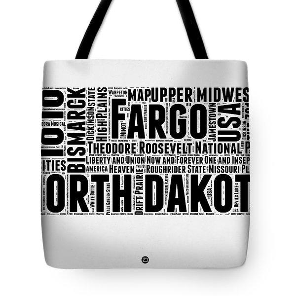North Dakota Word Cloud 2 Tote Bag