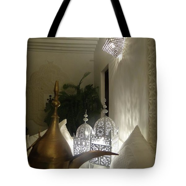 North - Eastern African Home - Lanterns And Jug Tote Bag