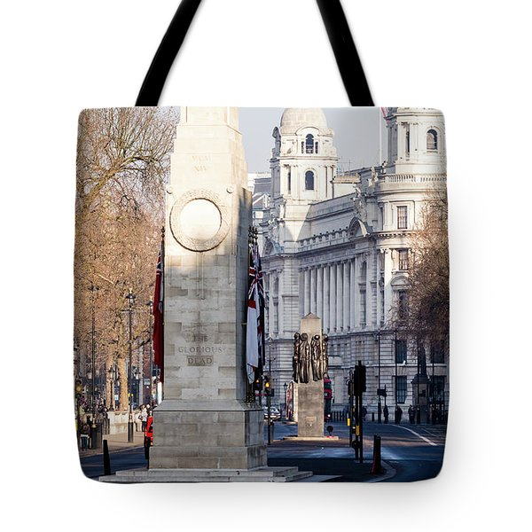 North Facade Of Cenotaph War Memorial Whitehall London Tote Bag