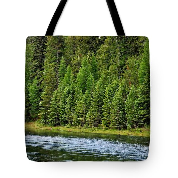 North Fork Of The Flathead Tote Bag