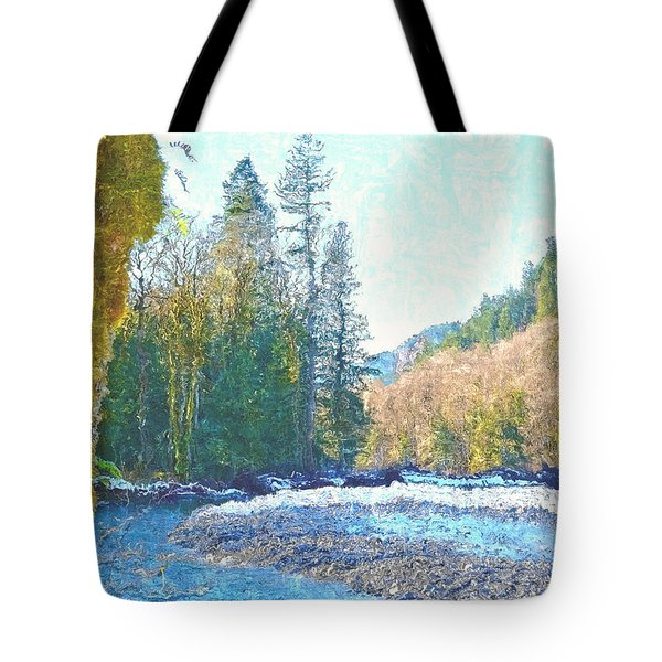North Fork Of The Skykomish River Tote Bag