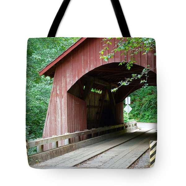 North Fork Yachats Bridge 2 Tote Bag by Methune Hively