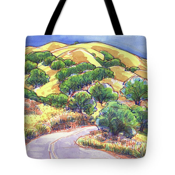 Tote Bag featuring the painting North Gate Road, Mount Diablo by Judith Kunzle