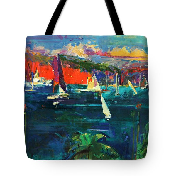 North Head  Sydney Harbour Tote Bag by Peter Graham