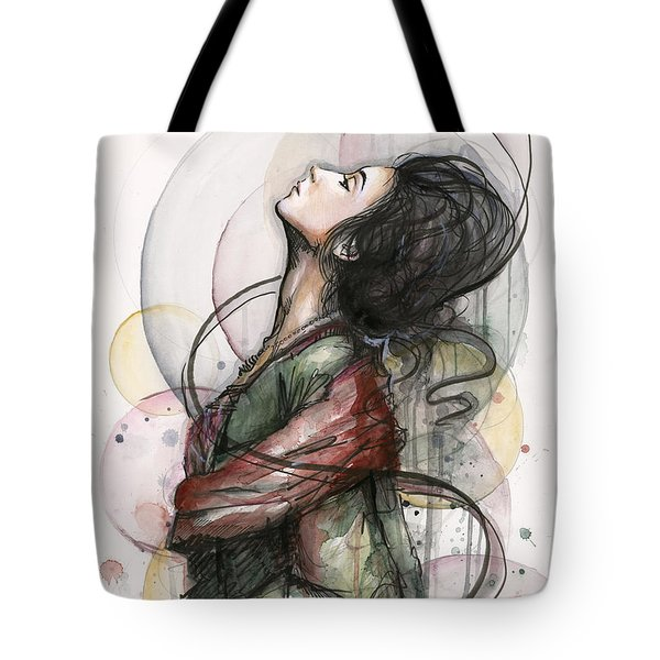 Beautiful Lady Tote Bag
