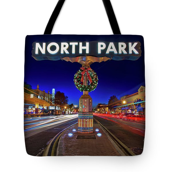Tote Bag featuring the photograph North Park Christmas Rush Hour by Sam Antonio Photography