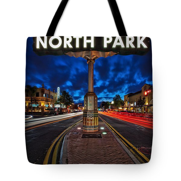 North Park Neon Sign San Diego California Tote Bag